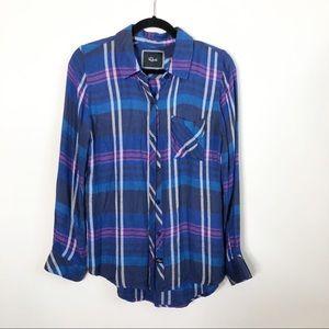 Rails Blue & purple plaid Hunter button down shirt